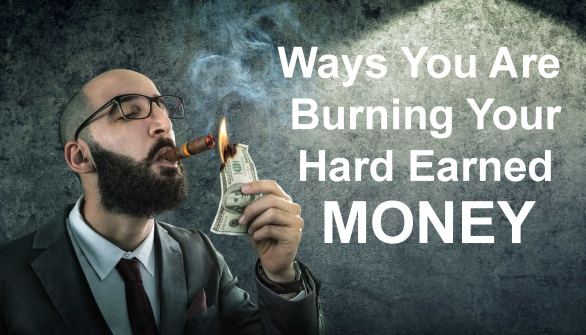 money burning - businessman arrogant